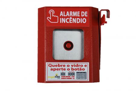 Exemplo de um botão de alarme.