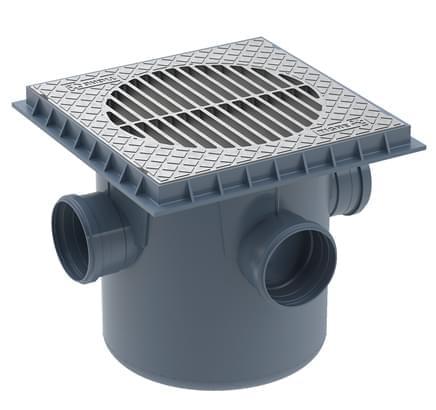 Exemplo de uma caixa de areia de PVC.