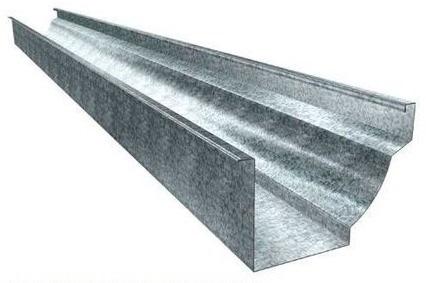 Exemplo de calha colonial de aço galvanizado