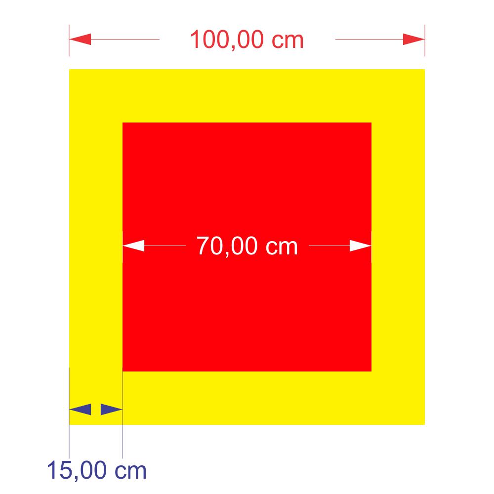 Exemplo de sinalização adequada para piso.