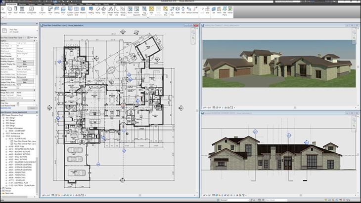 Interface do Software de Engenharia Revit