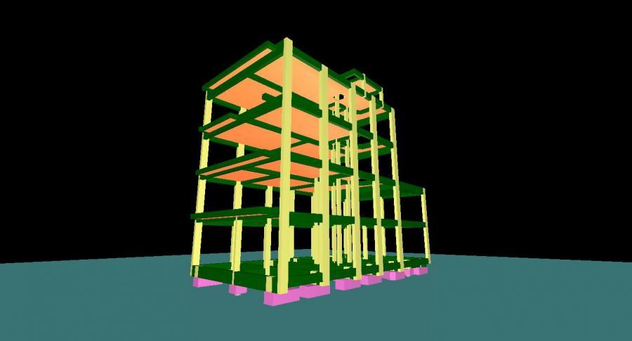 Projeto estrutural realizado com auxílio do software de engenharia TQS