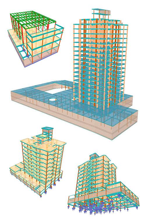 Projetos estruturais elaborados no software de engenharia CypeCad