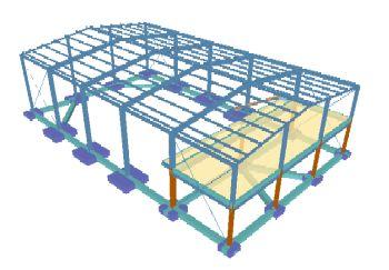 Projetos estruturais elaborados no software de engenharia Metálicas 3D