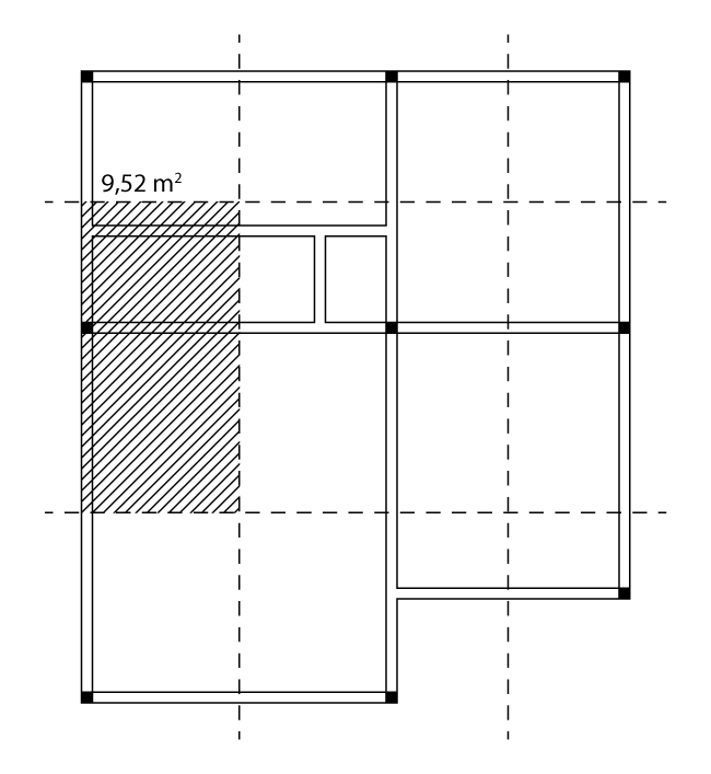 Área de influência do pilar de extremidade