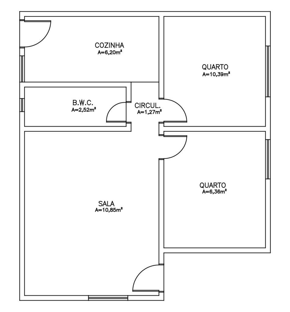 Arquitetura utilizada para pré-dimensioamento