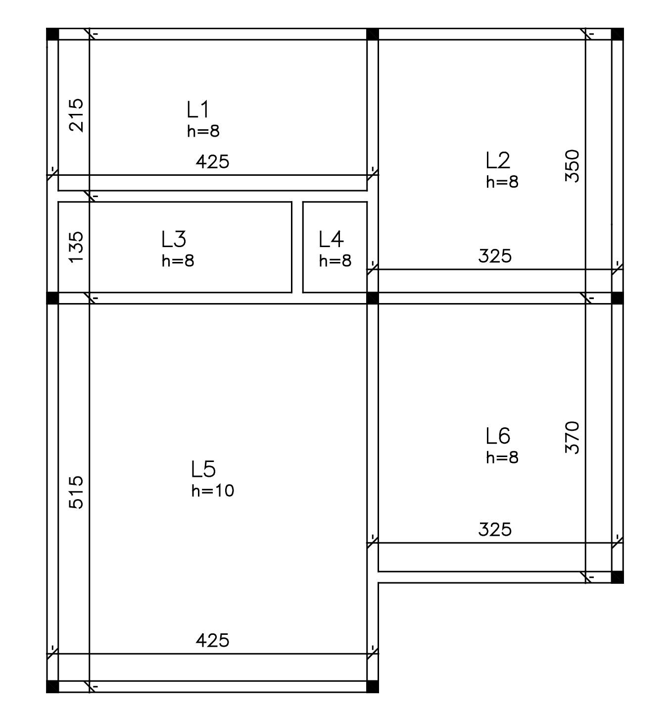 Pré-dimensionamento das lajes