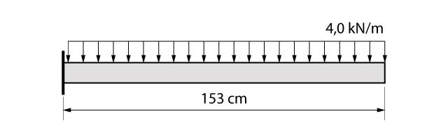 Modelo de cálculo do exemplo da marquise