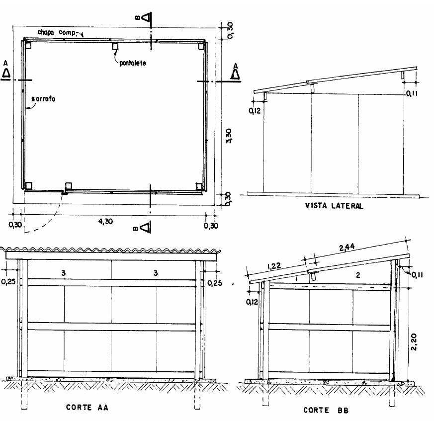 exemplo simplificado de barracão