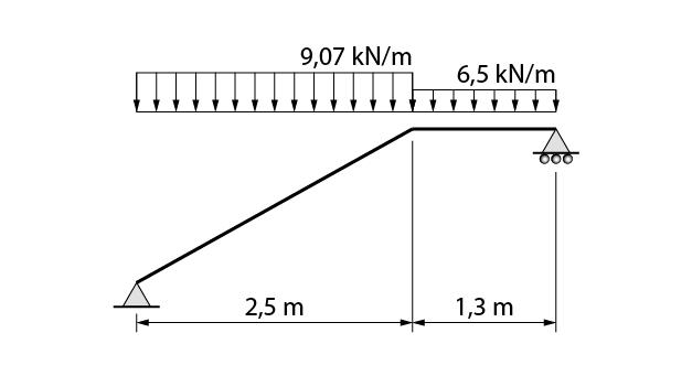 Modelo de cálculo estrutural de uma escada