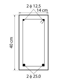 Detalhamento da seção com armadura dupla