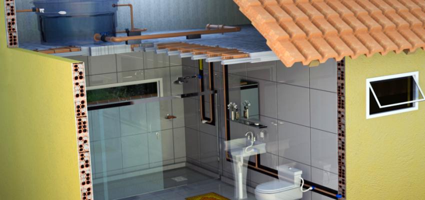 Instalação predial de água fria