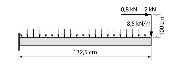 Modelo de cálculo da escada do exemplo