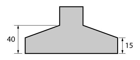 Altura total e altura do rodapé