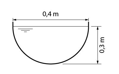 Exemplo de canal semicircular