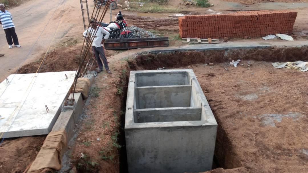 Fossa séptica de concreto