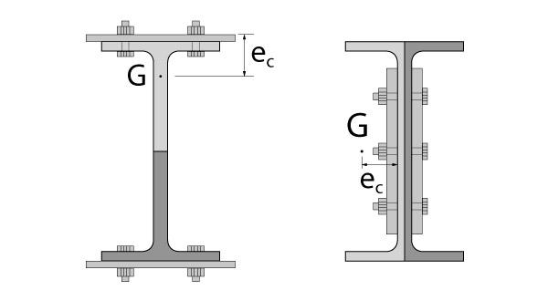 Coeficiente de redução da área líquida em peças tracionadas simétricas