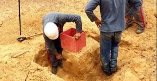 Início da amostragem de solo indeformado